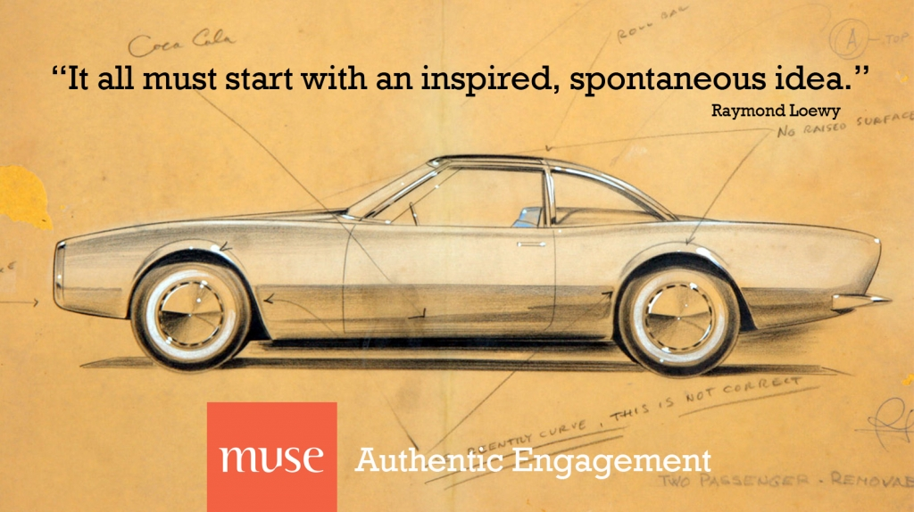 Time to rebrand? Raymond Loewy Muse Poster