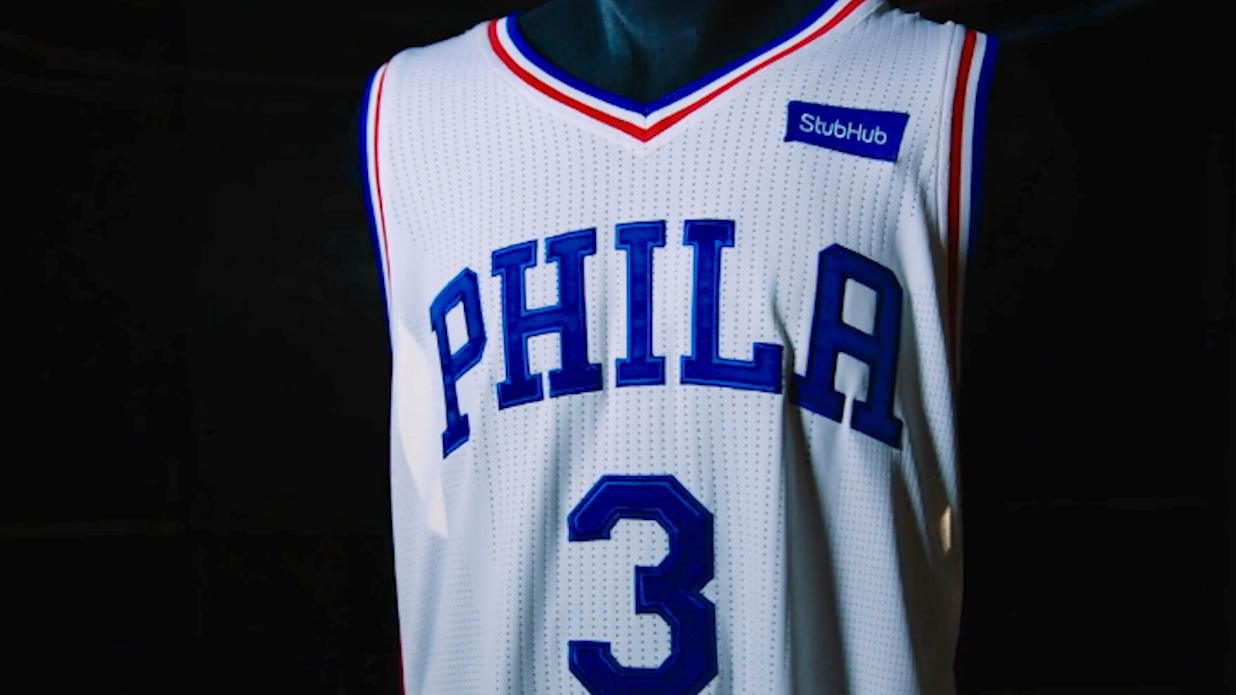 Jersey Sponsorships: Philadelphia 76ers StubHub