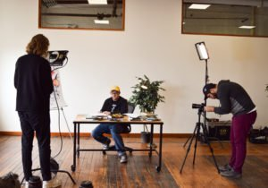 A behind the scenes video shoot at the Muse Shop with illustrator and author Kevin Sylvester.