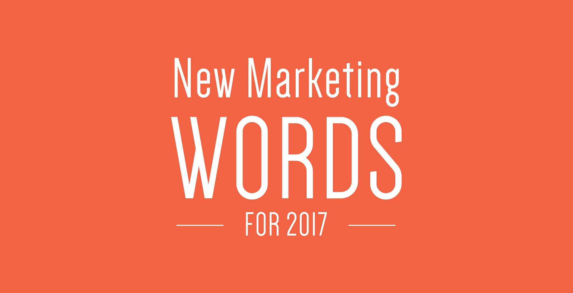 New Marketing Words