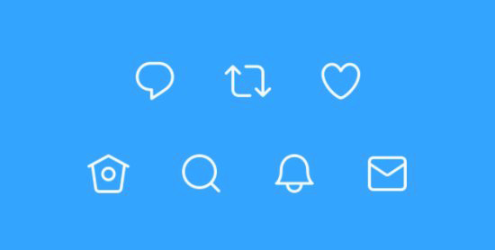 Updated Twitter Icons