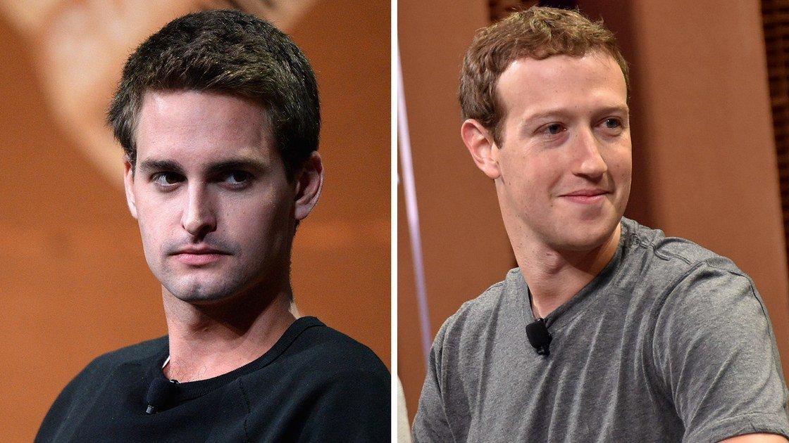 Evan Spiegel & Mark Zuckerberg