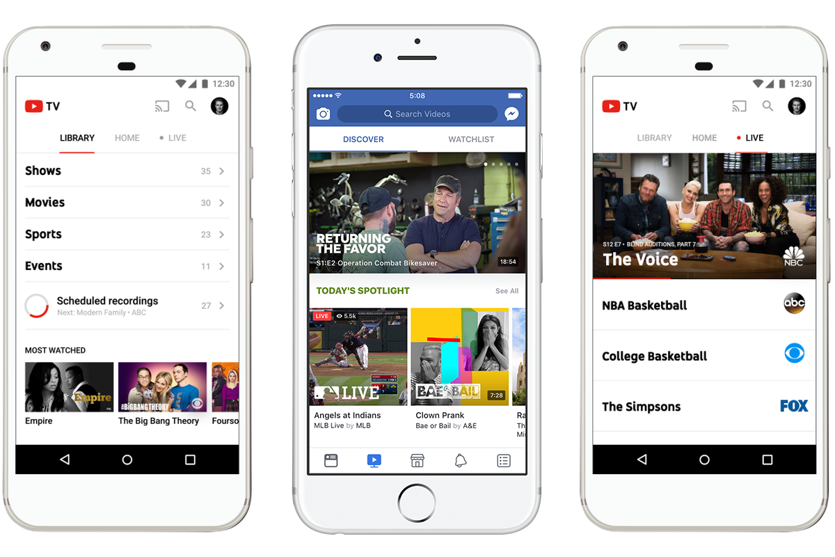 YouTube TV and Facebook Watch