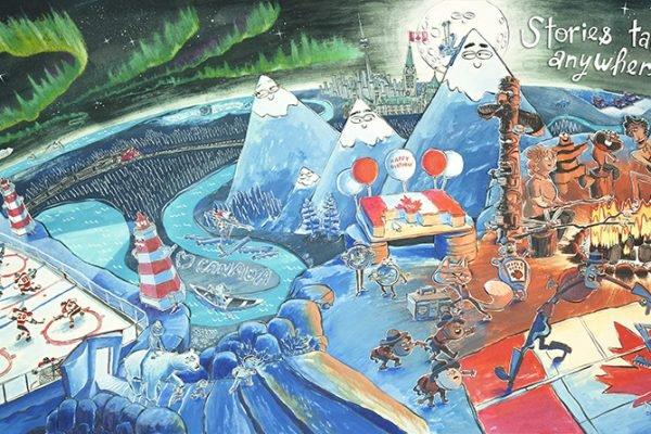 RGB illustration Telling Tales
