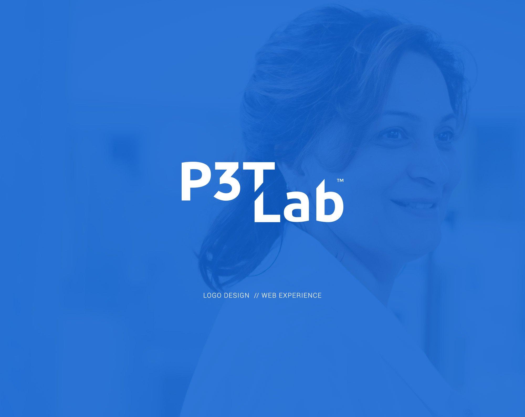 P3T Lab logo design and web design