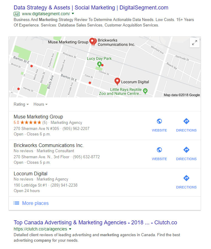Local Search Result with Map