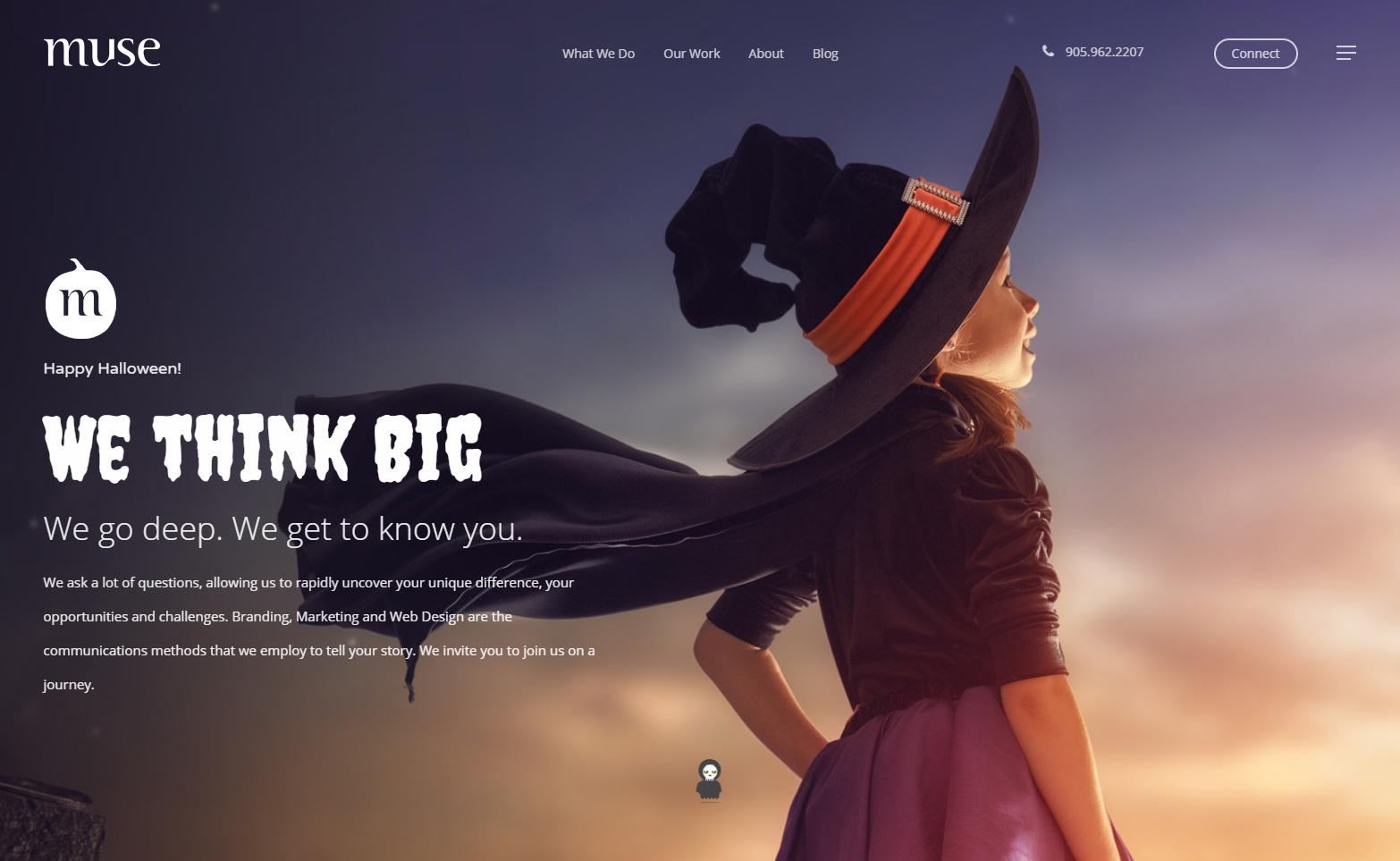 Halloween Web Design