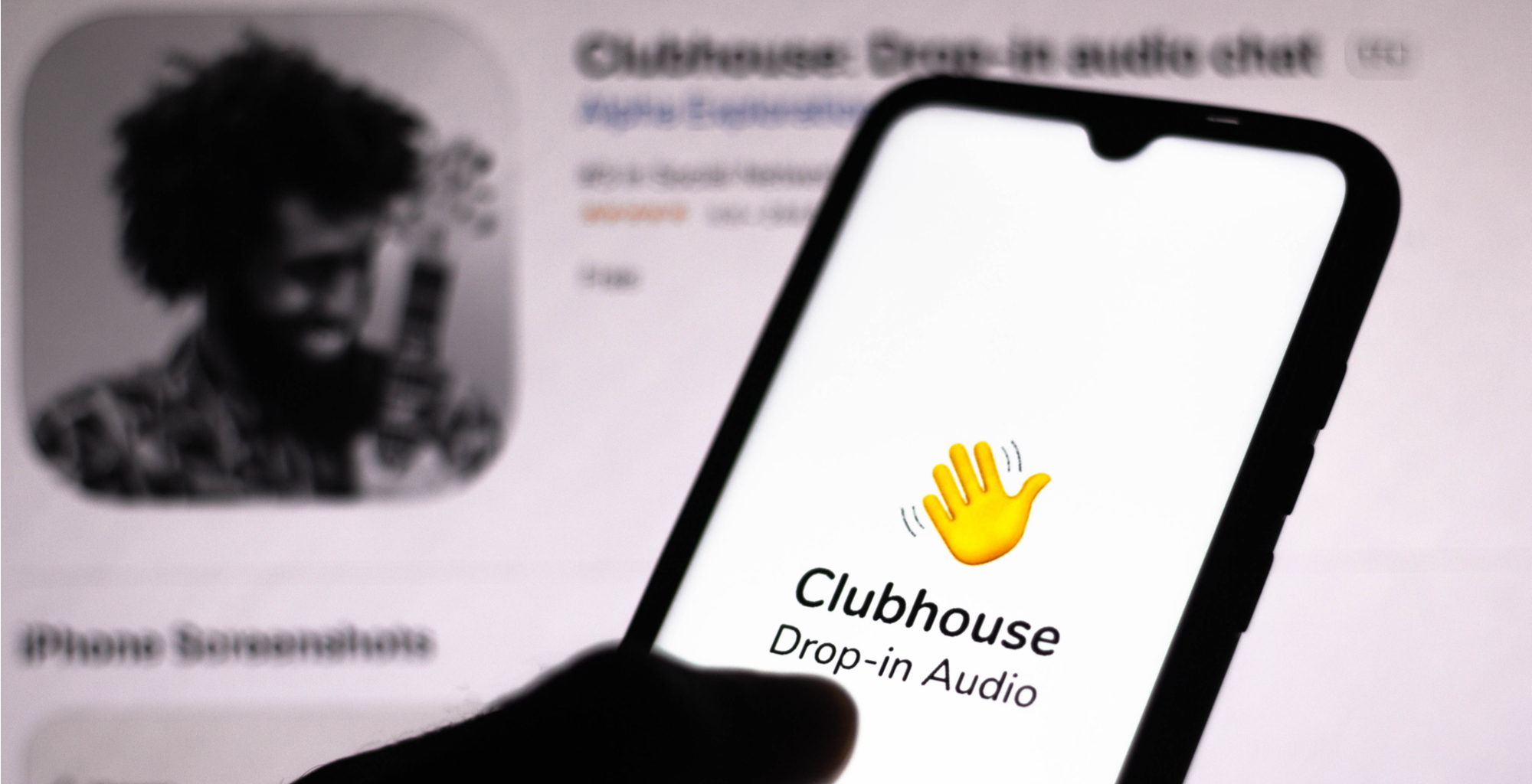 the clubhouse app open on a phone screen