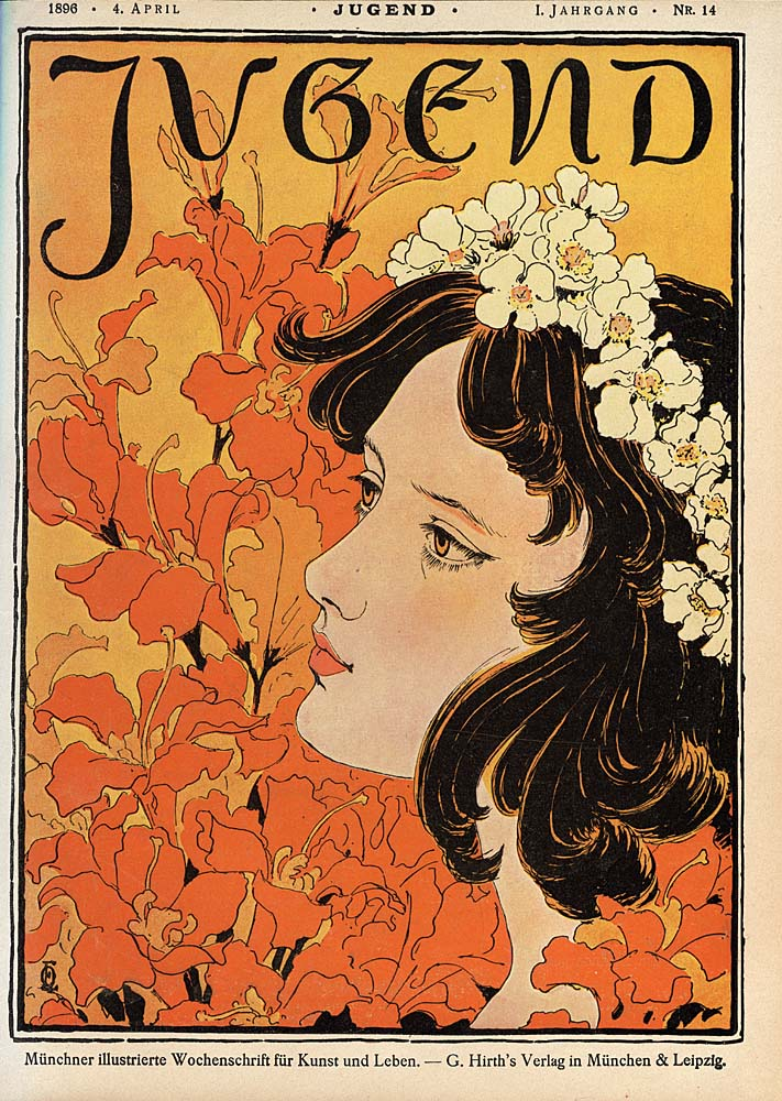 During the Art Nouveau era, the Jugend, was a youth focused magazine.